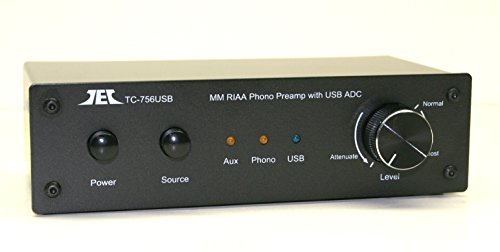 Technolink TC-756USB RIAA Moving Magnet Phono Preamp with AUX Input and USB (Computer) Output