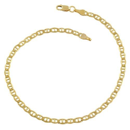 14k Yellow Gold Filled 3.3mm Mariner Link Bracelet (8.5 inch)