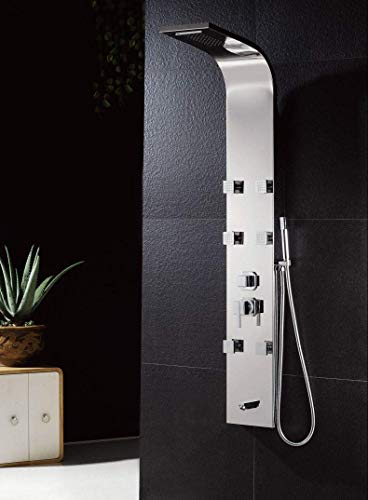 Promotion XZST 304 SUS Stainless Steel Panel Shower System Wall