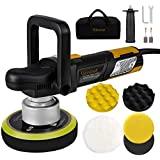 Ginour Polisher, 900W 6-inch Variable Speed Dual-Action Random Orbit Car Buffer Polisher with D-Handle & Side Handle…