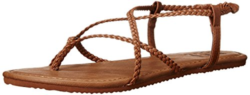 Billabong Women's Crossing Over Flat Sandal, Desert Brown, 10 M ()