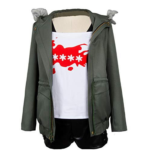 Ya-cos Persona 5 Futaba Sakura Cosplay Costume A.F.K. Logo Casual Coat Jacket Shirt Tee Suit Dress Up,Green,Female Small]()