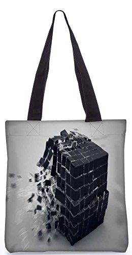 Snoogg Explosion Würfel Tragetasche 13,5 X 15 In Shopping-Dienstprogramm Tragetasche Aus Polyester Canvas