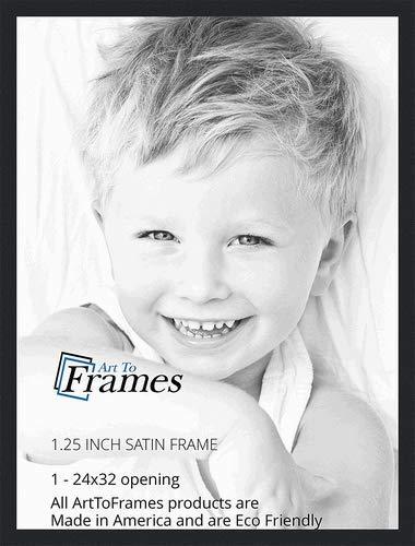 Amazoncom Arttoframes 24x32 Inch Satin Black Picture Frame