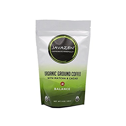 Javazen Command | Organic Coffee Blended with Matcha Green Tea and Chocolate for Energy + Focus, Vegan, Paleo, Gluten Free | 1 Bag - 9oz. - 15 Servings