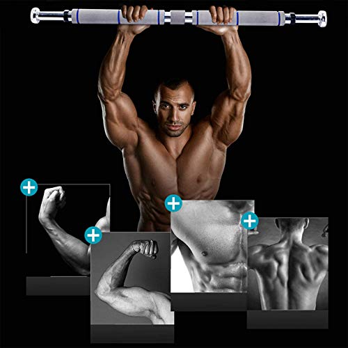 EPROSMIN Pull Up Bar Chin Up - Adjustable Doorway Chin Up Bar Upper Body Workout Bar with Comfort Grips for Home Gym Exercise Fitness 26 to 39 Inches Adjustable Width