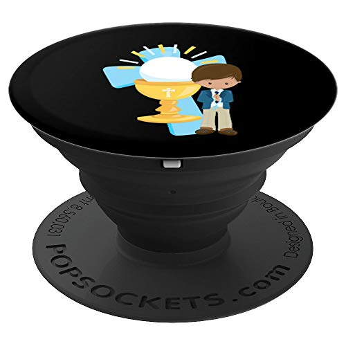First Communion Gift Party Favors Latino Boy Rosary Cross - PopSockets Grip and Stand for Phones and Tablets