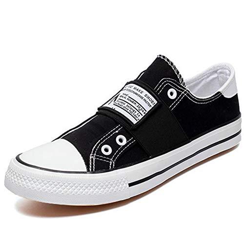 Moda Unisex Lona Cordones Zapatos Entrenadores Hombres Tenis Ligera Zapatillas Casual De Negro Verano Skate TrZPFwWnCT