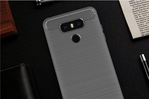 Funda LG G6 Pro,Funda Fibra de carbono Alta Calidad Anti-Rasguño y Resistente Huellas Dactilares Totalmente Protectora Caso de Cuero Cover Case Adecuado para el LG G6 Pro B