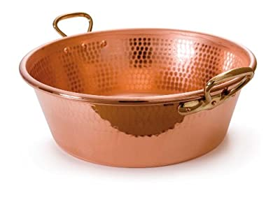 Mauviel M'Passion 2193.36 11-Quart Copper Jam Pan with Bronze Handles