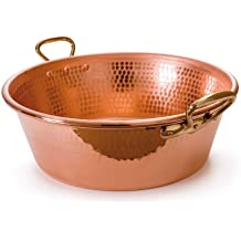 Mauviel Made In France M'Passion 2193.36 11-Quart Copper Jam Pan with Bronze Handles