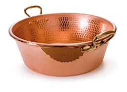 Mauviel Made In France M\'Passion 2193.40 Copper 15-Quart Jam Pan with Bronze Handles