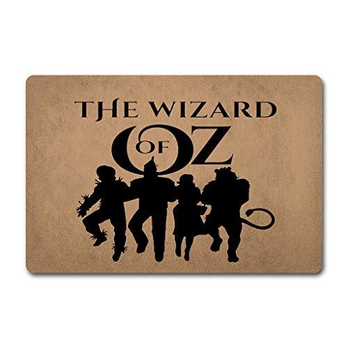 PangDi Door Mats The Wizard of OZ Doormat Funny Wizard Door Mats 18x30 Non-Woven Fabric Top with a Anti-Slip Rubber Back Door Rugs Hello Doormats