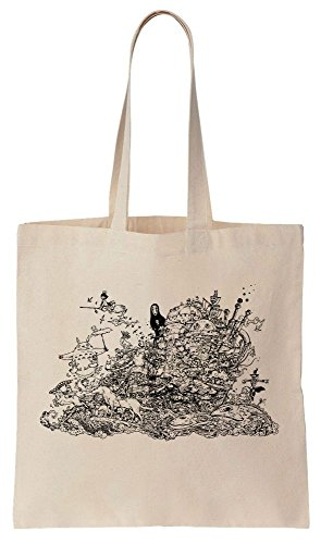 Amazing Cotton Detailed Drawing Canvas Bag Tote nvrTvFwY