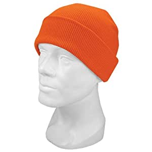 Hot Shot Men's Acrylic Cuff Cap Knit Hat, Blaze Orange, One Size