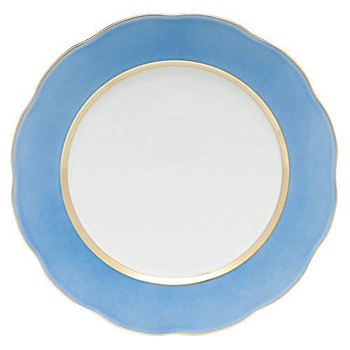 - Herend Cornflower Blue Porcelain Service Plate
