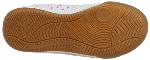 KangaROOS - Zapatillas de Material Sintético para niño Weiß (White/Blossom Pink)