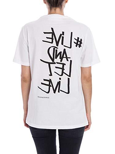 Bianco Pnjt24af565s526 Donna Neil nero T Barrett shirt Cotone IqxqtpYBw