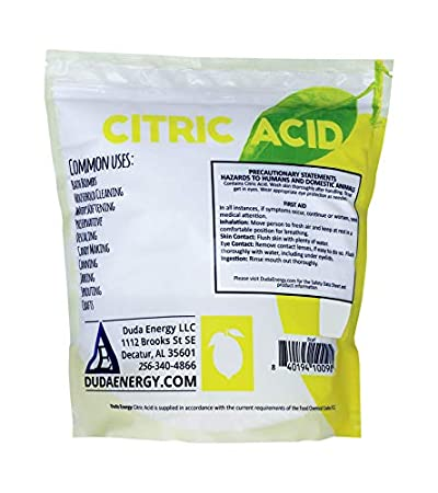 50 lb Pail of Non-GMO Organic Citric Acid Food Grade FCC/USP Anhydrous Pure  Fine Granular