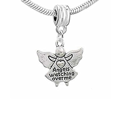 Angels Watching Over Me Dangle Charm Bead for Snake Chain Charm Bracelet