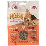 Catit Nibbly Cat Treats-Salmon Flavour-90 G (3.2 Oz), 1 Pouch