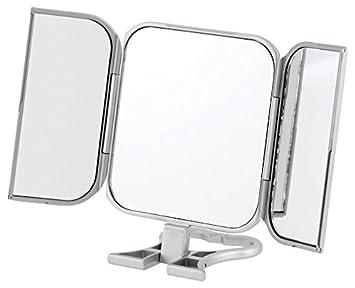 Danielle Enterprises Silver 3 Way Beauty Mirror