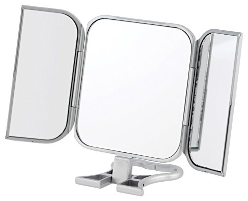 Danielle Enterprises Silver 3-Way Beauty Mirror