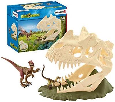 シュライヒ 恐竜 巨大恐竜の骸骨トラップ フィギュア 42348
