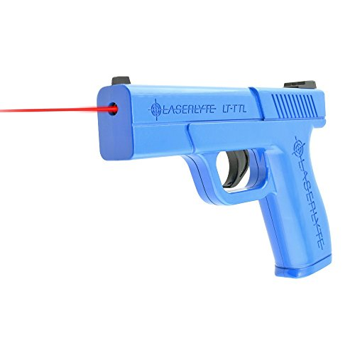 - LaserLyte Laser Trainer Pistol Full Size GLOCK 19 familiar size weight and feel RESETTING TRIGGER at 5.5 lb is ready to shoot after every pull FIRES a laser dot when REAL GUN SIGHTS for training