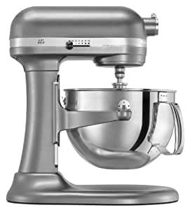 KitchenAid KP26M1PSL Professional 600 Series 6-Quart Stand Mixer, Silver