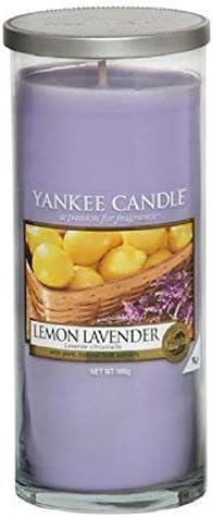 """violett gro/ß Yankee Candle /""""Lemon Lavender/"""" Stumpenkerze"""