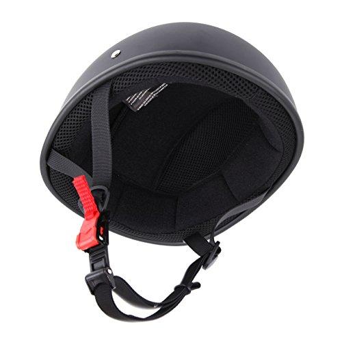 - Sange Skid Lid Original Flat Black DOT Half Helmet Motorcycle Beanie (XL)