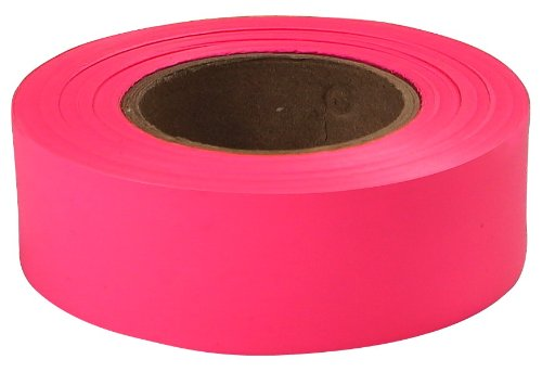Flagging Tapes - 77003 glo pink 1''x200' plastic flaggig tape [Set of 10]