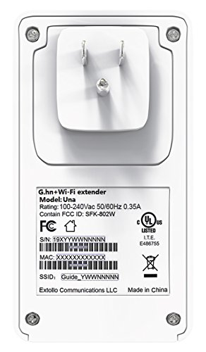 Extollo Una - Mesh WiFi System and Extender with Powerline Backhaul for Whole Home Seamless Roaming (Single Unit) by Extollo Communications (Image #2)