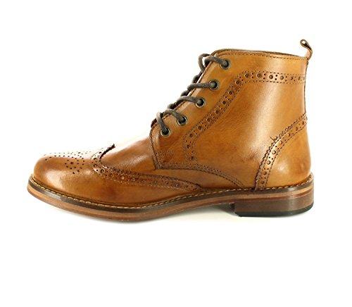 NUEVO Hombre Red Tape Bronceado / Cuero Marrón Clásico Encaje Zapatos Oxford - Bronceado - GB Tallas 7-12