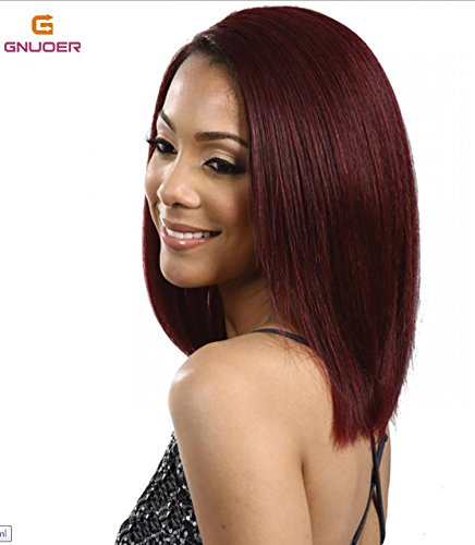 Haned Short Bob Wine Red Synthetic Hair Wigs For Black Women Wigs Female Audience: Stylish Girl Of Silk Material: High Temperature Wire Wig Category: Liu, Liu Wig Hairstyle: Bobo Head Style: Sweet C