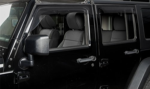 PERNICE Jeep Wrangler Neoprene Seat Covers Custom Fit for 2011,2012, Airbag Compatible (4 DOOR, Black)