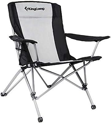 KingCamp Heavy Duty Folding Arm Chair with Comfotable Tilted Back