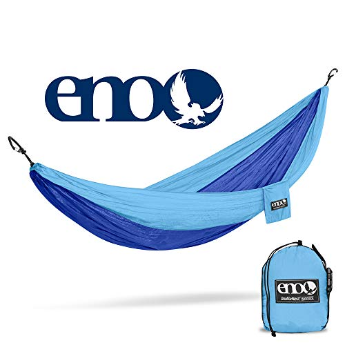 ENO – Eagles Nest Outfitters DoubleNest Hammock, Portable Hammock for Two, Powder Blue Royal