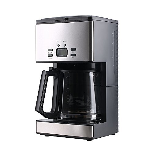 PowerDoF CM6626T 12-Cup Glass Carafe Programmable Coffee Maker,Black