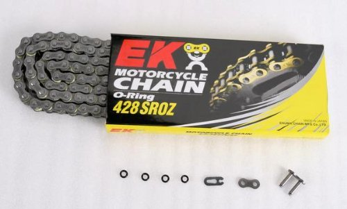 EK Motorcycle Chain Chain 428 SROZ Series Chain - 120 Links - Natural , Chain Type: 428, Chain Length: 120, Color: Natural, Chain Application: All - Ek Motorcycle Chains