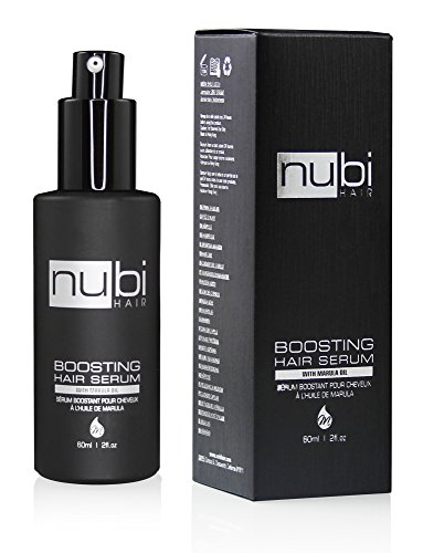 Nubi Boosting Hair Serum with Marula Oil, Vitamin E and Aloe Vera, 2 Fl. Oz./ 60 Ml ()