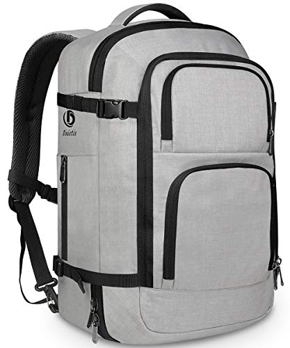 Dinictis 40L Flight Approved Travel Backpack, Waterproof Business Carry on Backpack fit 15.6 Inch Laptop, Durable Weekender Bag for Men and Women(Grey) (Best Travel Luggage Backpack)