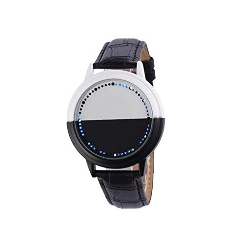 Women's Black Bangle LED Wrist Watch - 5