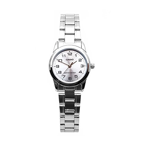 Casio Women's LTPV001D-7B Silver Metal Quartz Watch (Metal Silver Quartz)