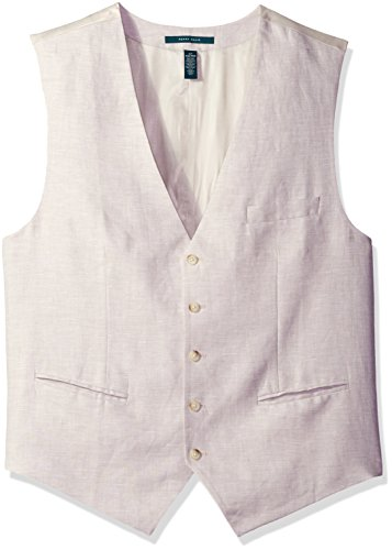 - Perry Ellis Men's Big Linen Five-Button Vest, Natural, Extra Large Tall