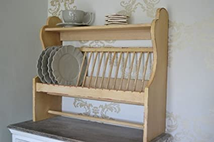 shabby chic plate rack kitchen plate