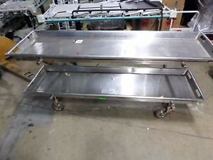 Cipshaw Stainless Steel Embalming,Morgue,Mortuary Table - Double Table