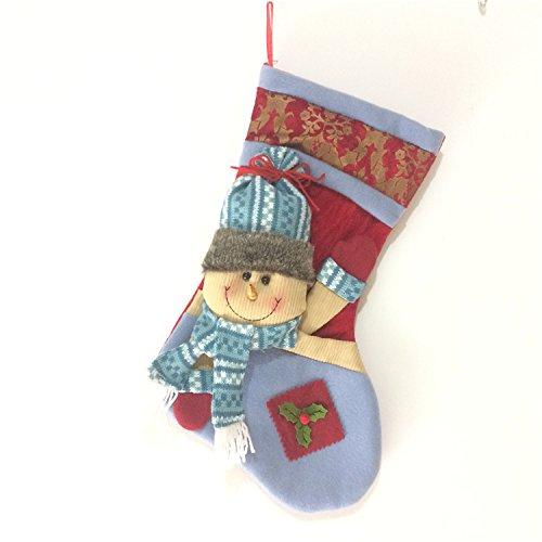 High-end large Christmas socks gift bag Christmas tree hotel bar elderly snowman scarf deer socks decorative pendant