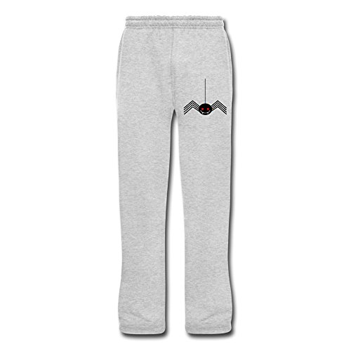 Men's Halloween Spider Bottom Fleece Sweatpants Ash -